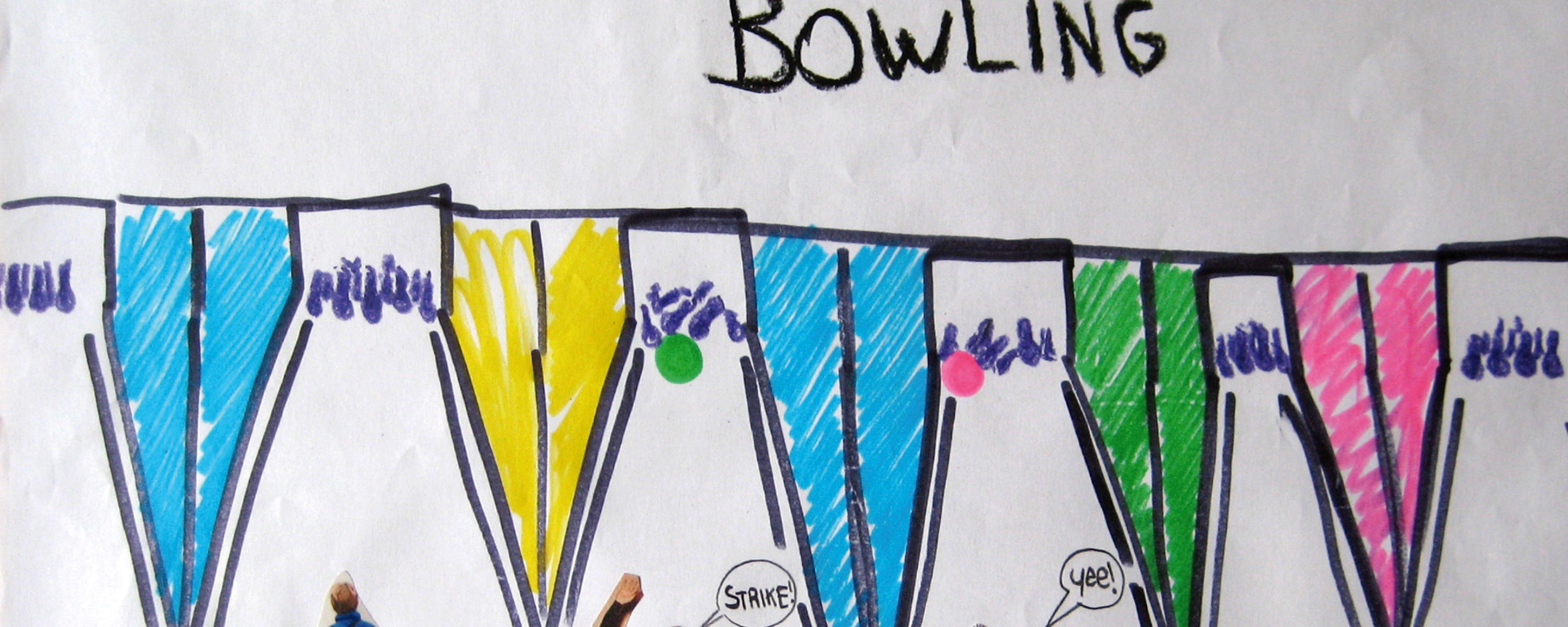 disegno, il bowling